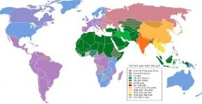 Tên các nước và khu vực trên thế giới (Anh - Trung)